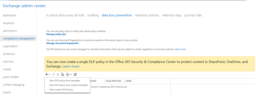 data loss prevention policy template