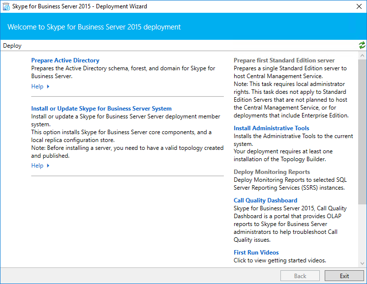 install skype for business 2015 on windows server 2016