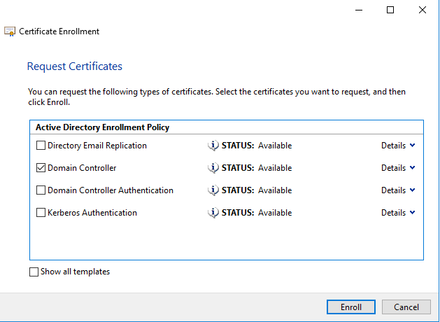 Configuring secure ldap connection on server 2016 aerrow it will take a while to get install the domain certificate on your domain controller after completion click on finish yelopaper Image collections