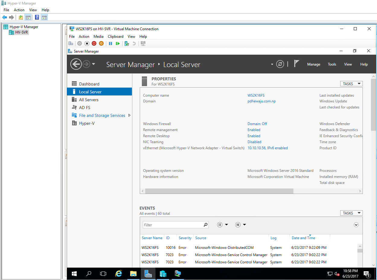 Enable Nested Virtualization on Windows Server 2016 - Aerrow